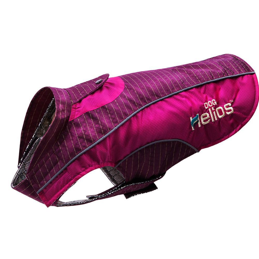 Medium Pink and Purple Reflecta-Bolt Sporty Performance Waterproof Pet Dog Coat Jacket With Blackshark Technology