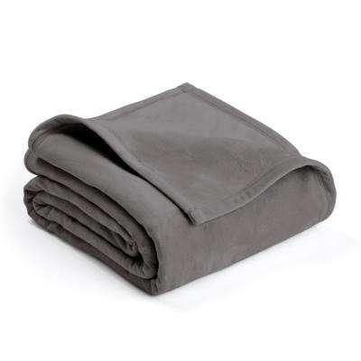 Plush Tornado Gray Polyester King Blanket