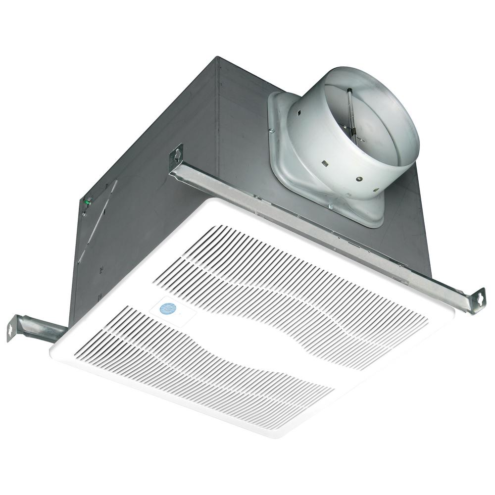 White 150 CFM Single Speed, Motion and Humidity Sensing 0.6 Sone
