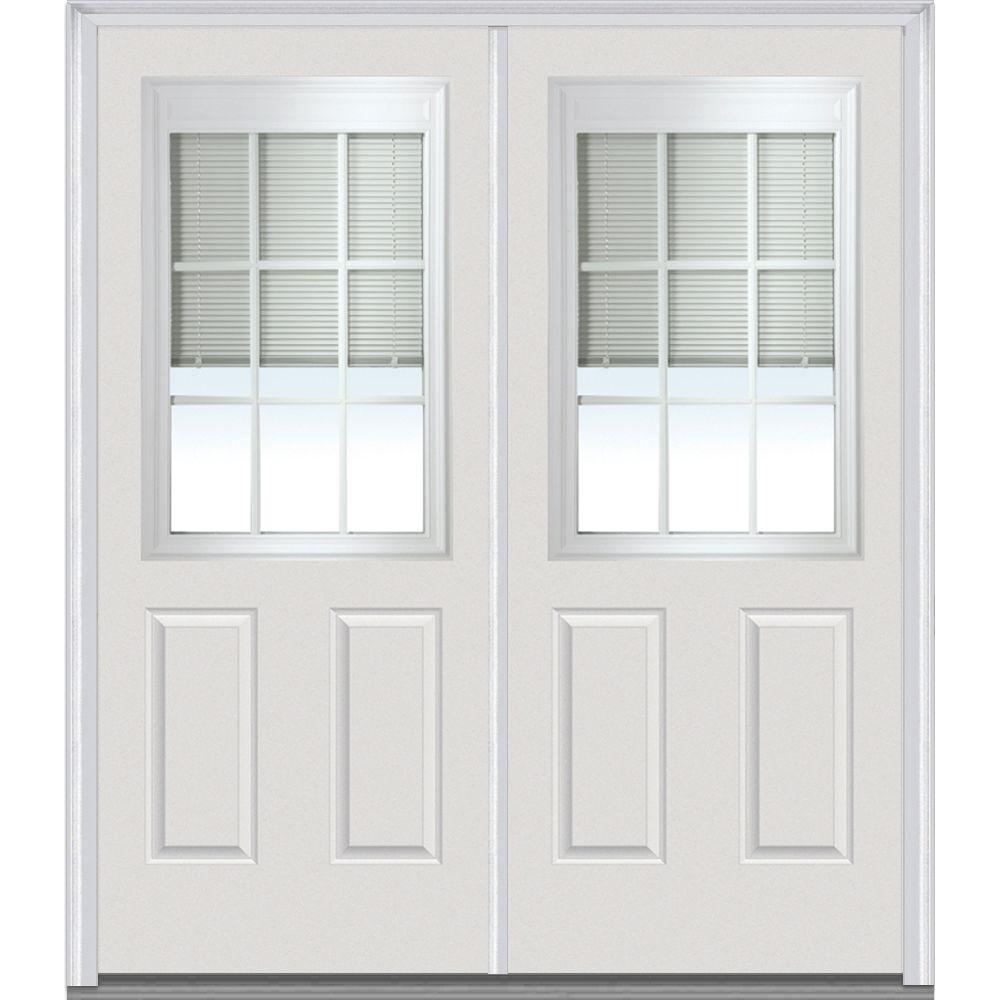 Mmi Door 64 In X 80 In Internal Blinds And Grilles Right Hand 12