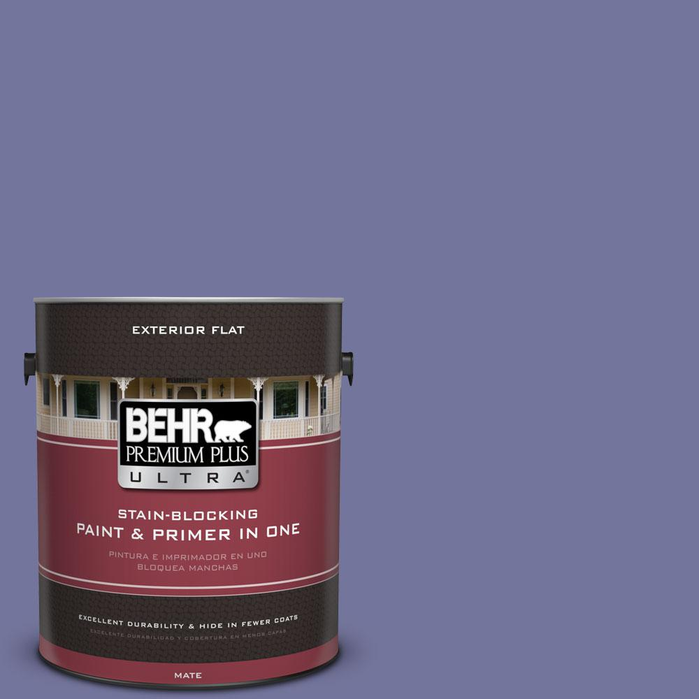 BEHR Premium Plus Ultra 1-gal. #630D-6 Palace Purple Flat Exterior Paint