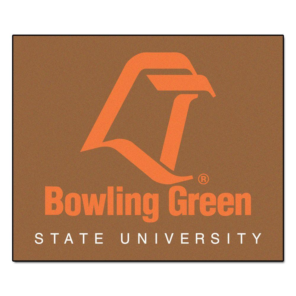 FANMATS Bowling Green State University 5 ft. x 6 ft. Tailgater Rug-DISCONTINUED