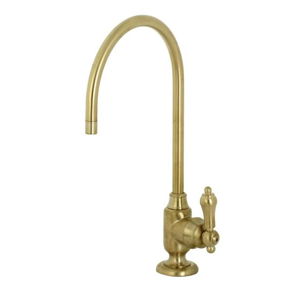 Replacement Drinking Water Single-Handle Beverage Faucet in Brushed Brass for Filtration Systems