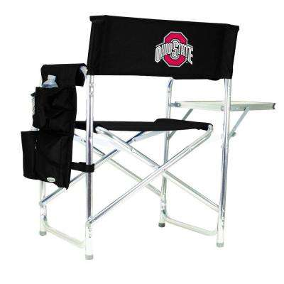 Ohio State University Black Sports Chair with Embroidered Logo