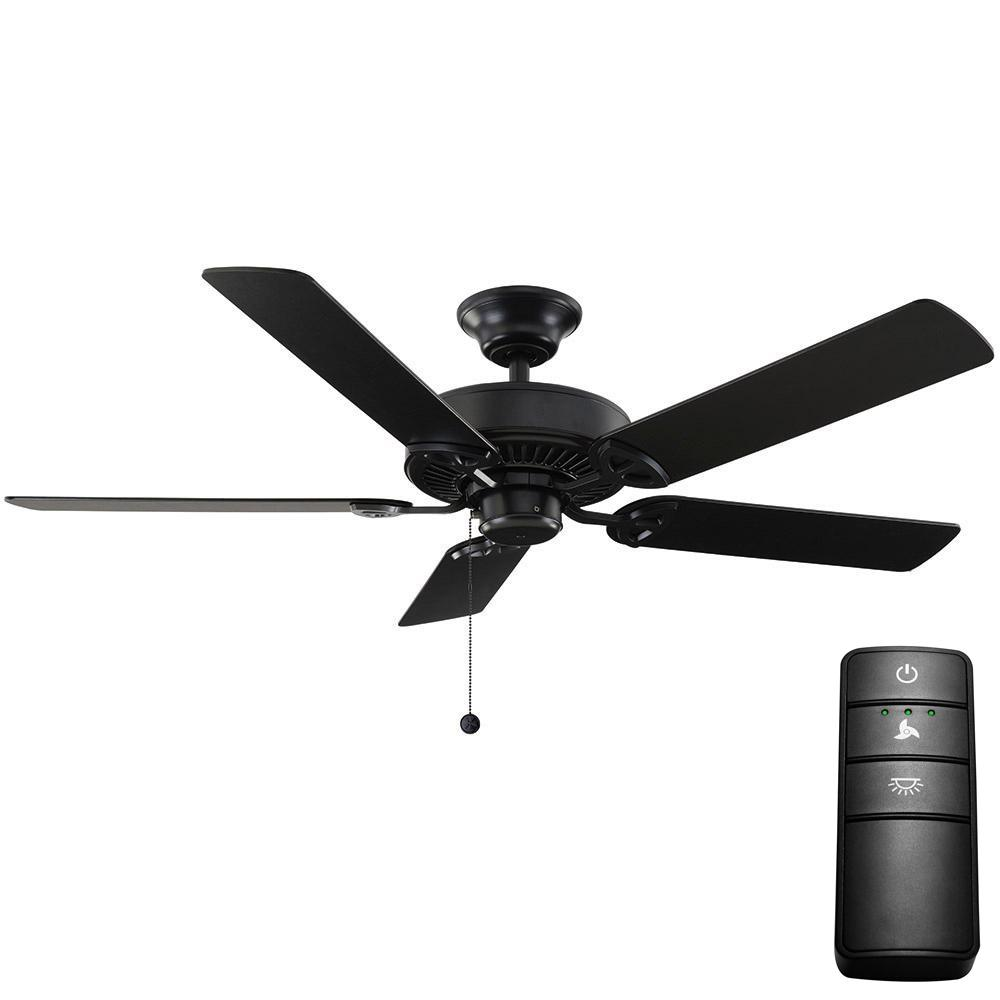 Energy Star Black Ceiling Fans Lighting The Home Depot Haiku Fan By Big Ass Natural Iron With Remote Control