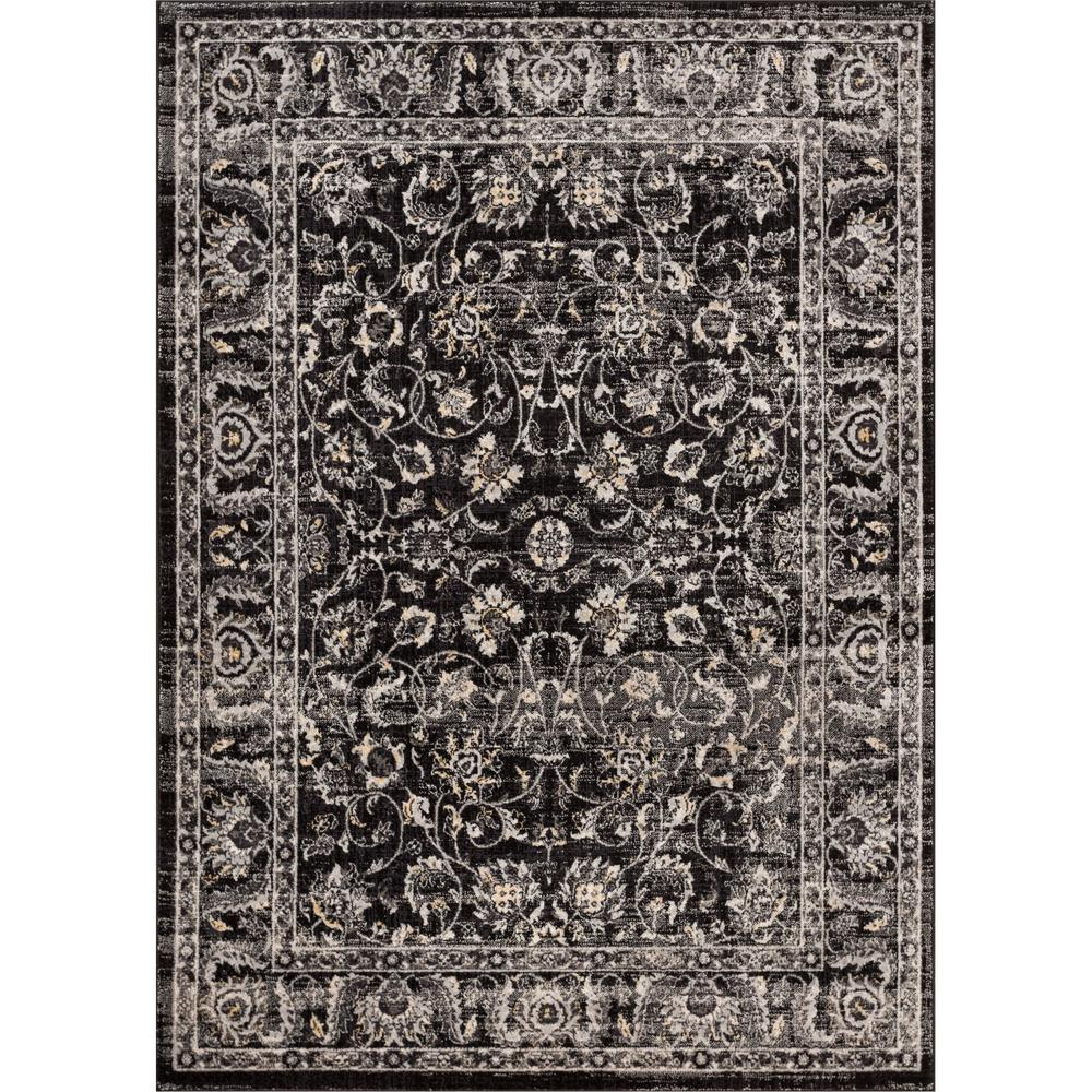 Well Woven New Age Sonoma Charcoal 5 Ft 3 In X 7 Traditional Vintage Distressed Oriental Area Rug P Am 13 The Home Depot