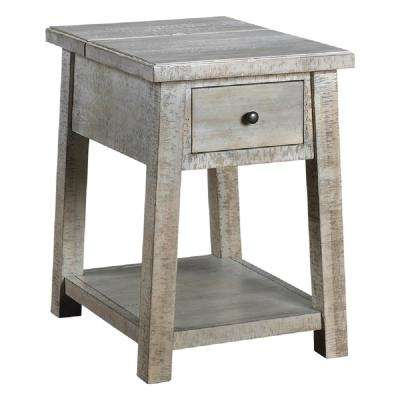 Courchevel Driftwood Chairside Table