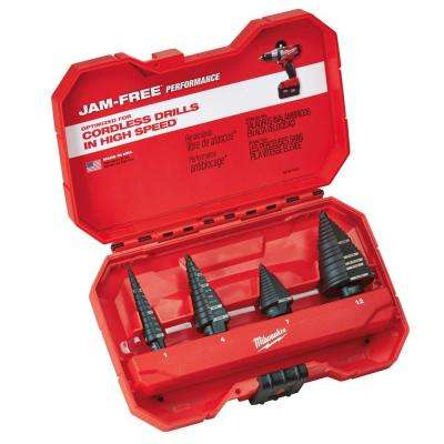 Step Drill Bit Kit (4-Piece)
