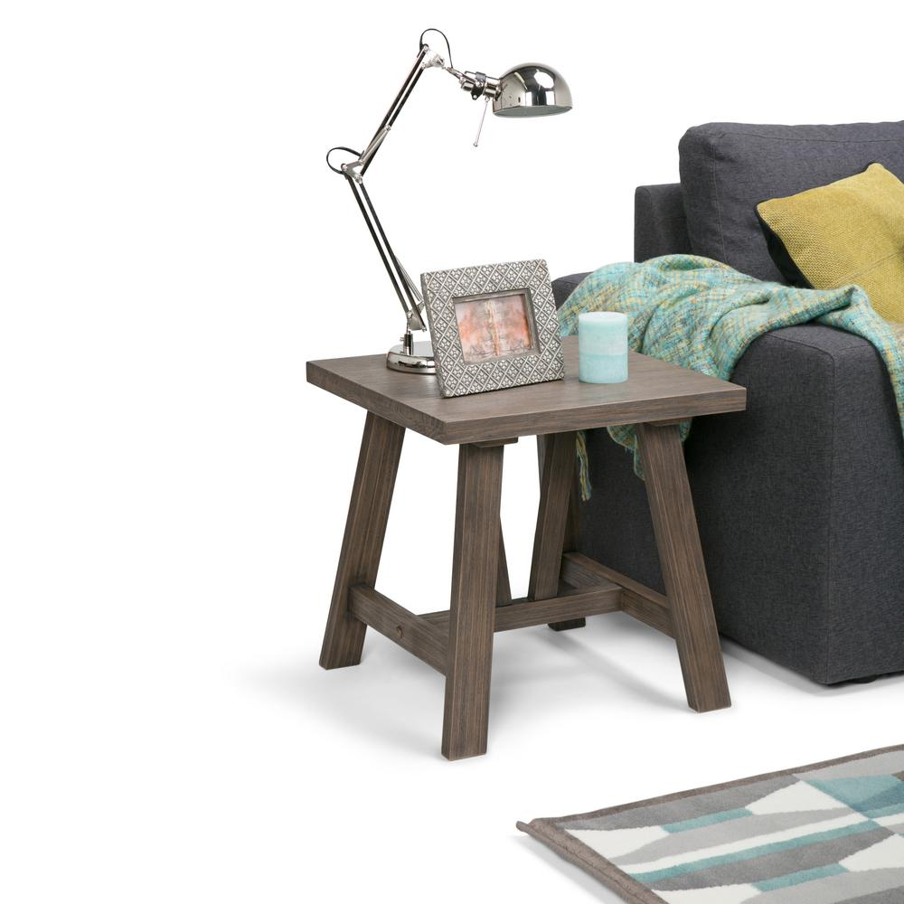 Driftwood End Table: Simpli Home Dylan Driftwood End Table-3AXCDLN-03