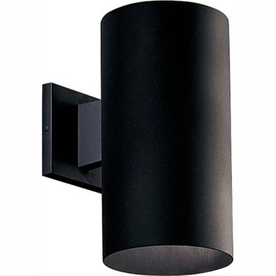 1-Light Black Integrated LED 12 in. Outdoor Wall Mount Cylinder Light