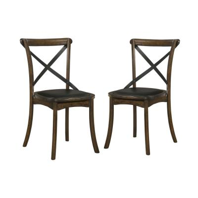 Renly Burnished Oak and Espresso Side Chairs (Set of 2)