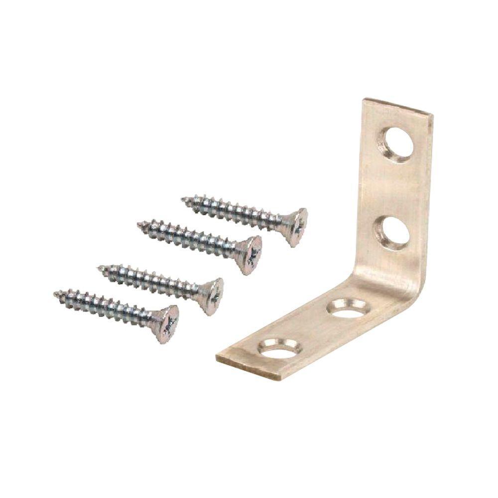 1-1/2 in. Stainless Steel Corner Brace (4-Pack)