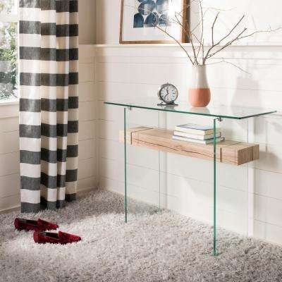Kayley Clear/Natural Console Table