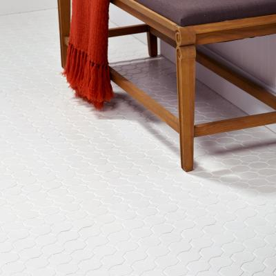 Matte White Octagon Dot 12 in. x 12 in. x 6mm Ceramic Mosaic Floor and Wall Tile (1 sq. ft. / piece)