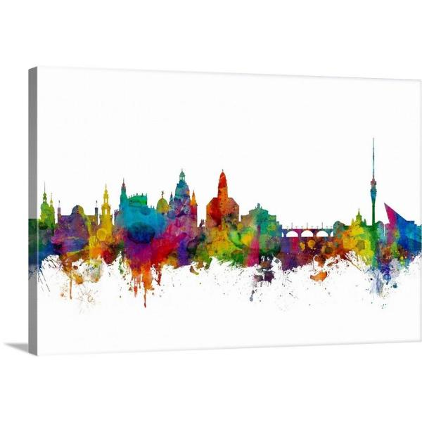 GreatBigCanvas ''Dresden Germany Skyline'' by Michael Tompsett Canvas Wall Art