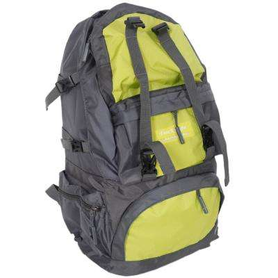 Free Knight 50L FK0218 Outdoor Waterproof Nylon Hiking Camping 10 in. Green Yellow Backpack