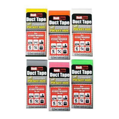 RediTape Pocket Size Duct Tape Rainbow in Color (6-Pack)