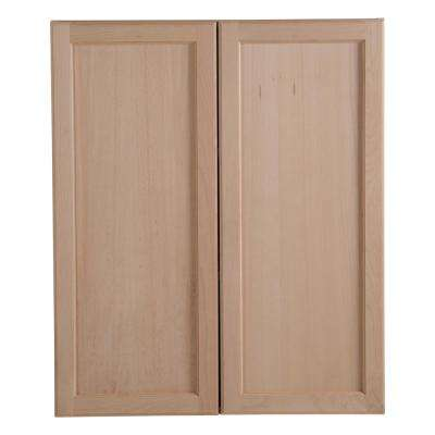 Easthaven Embled 30x36x12 In Wall Cabinet Unfinished German Beech