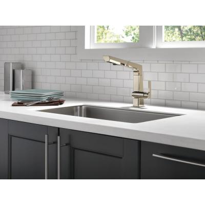 Pivotal Single-Handle Pull-Out Sprayer Kitchen Faucet in Polished Nickel