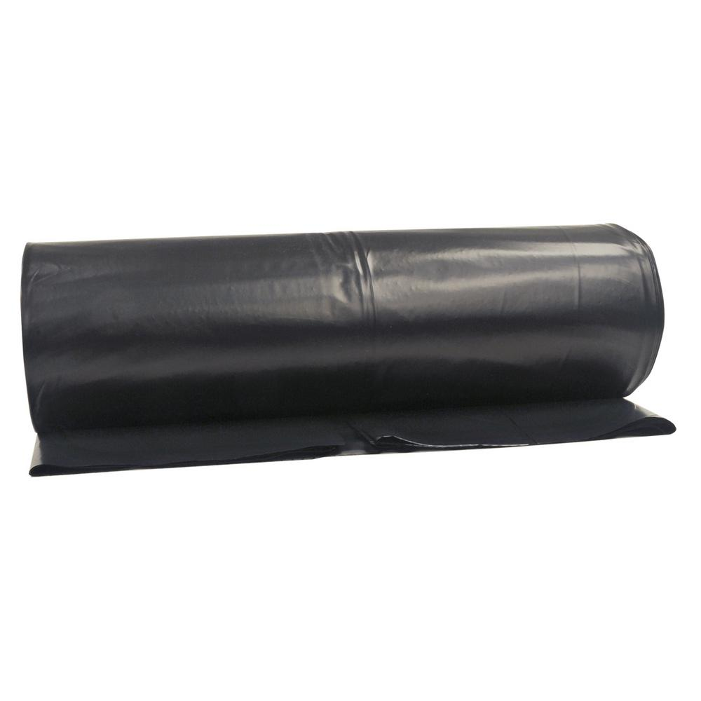 x 100 ft Black 6 Mil Polyethylene Heavy-Duty Plastic Sheeting Roll 6 ft