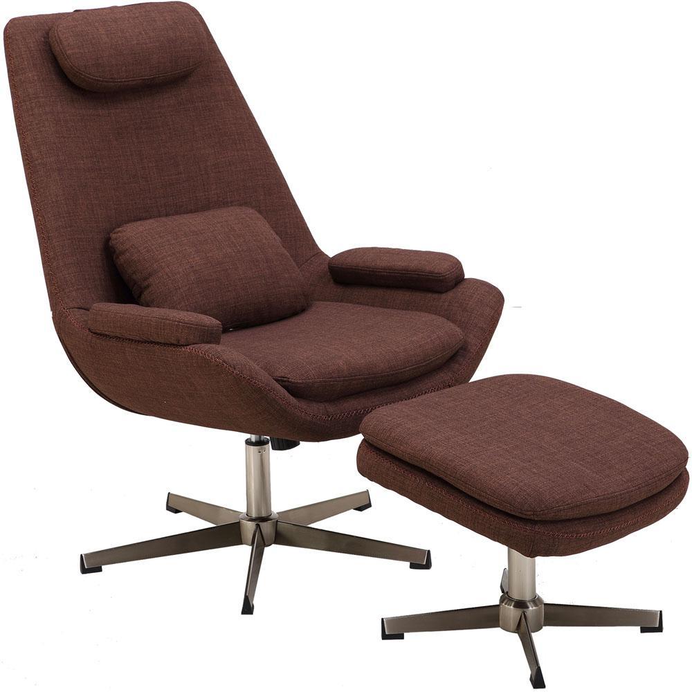 Chocolate Brown Modern Scoop Lounge Chair