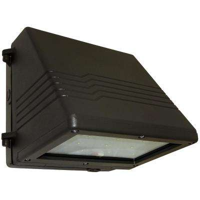22-Watt Bronze Outdoor Integrated LED Small Full Cutoff Wall Pack Light