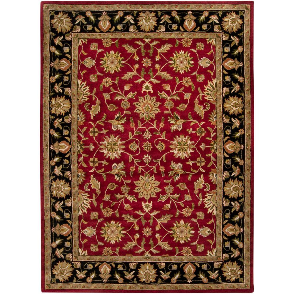 Valorie burgundy 12 ft x 15 ft area rug