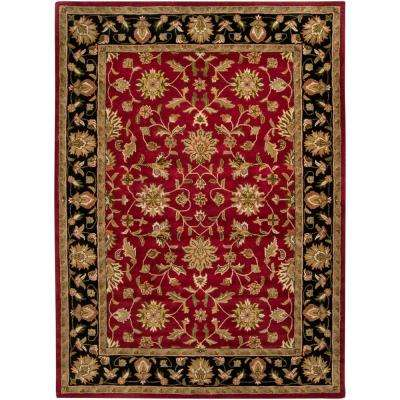 Valorie Burgundy 12 ft. x 15 ft. Area Rug