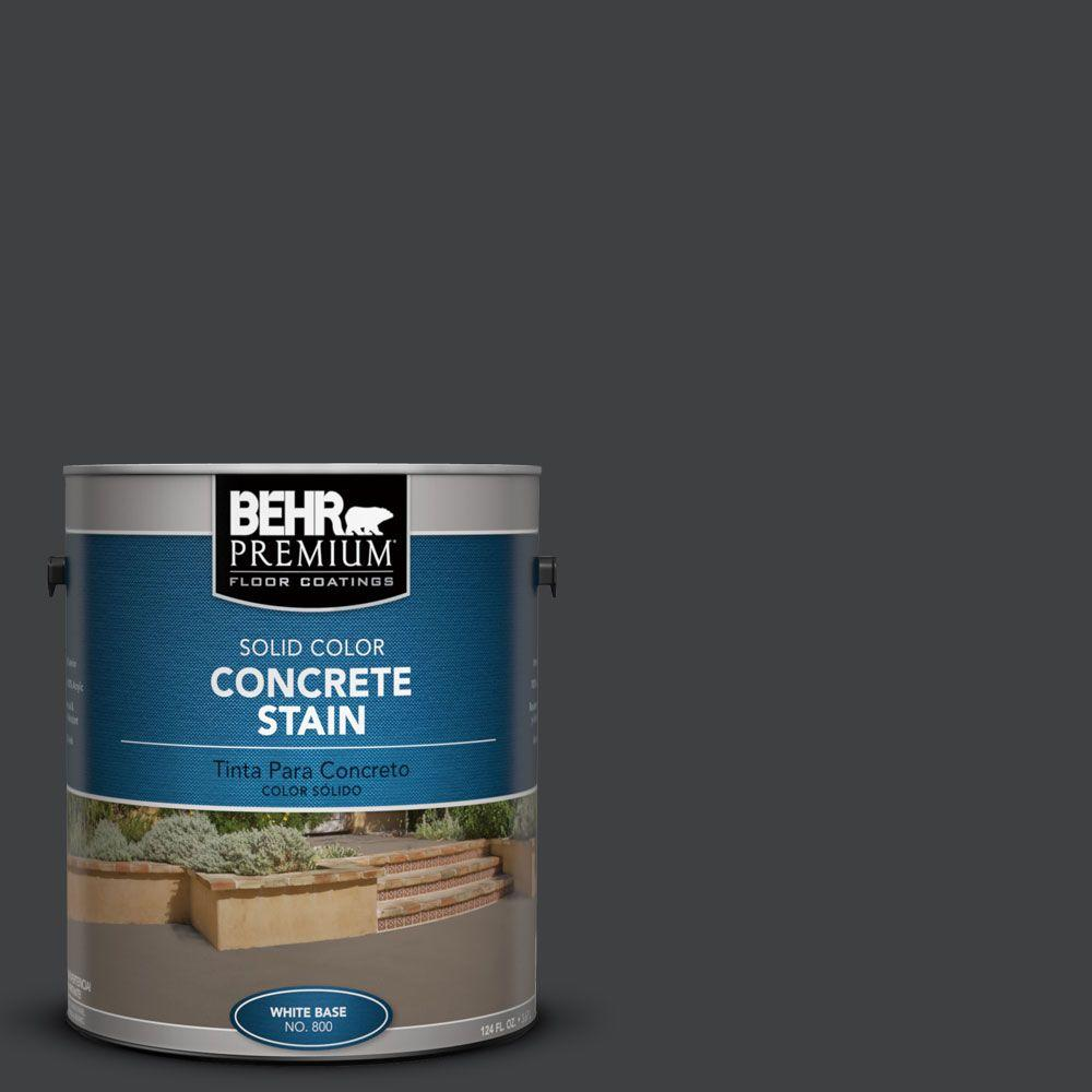 Behr Premium 1 Gal Pfc 75 Tar Black Solid Color Interior