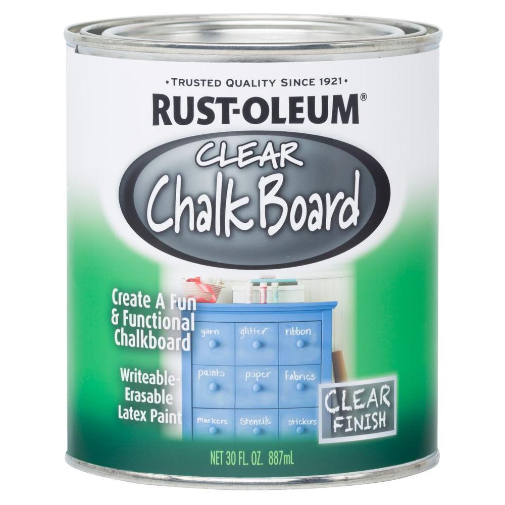 30 oz. Clear Chalkboard Paint (2-Pack)