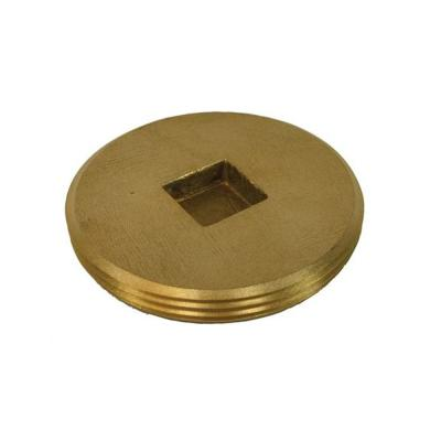 3-1/2 in. Countersunk Southern Code Brass Cleanout Plug 3-7/8 in. O.D. for DWV