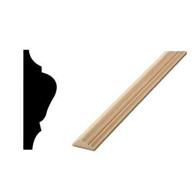WM 1217 1/2 in. x 1-1/2 in. x 96 in. Solid Pine Chair Rail Moulding