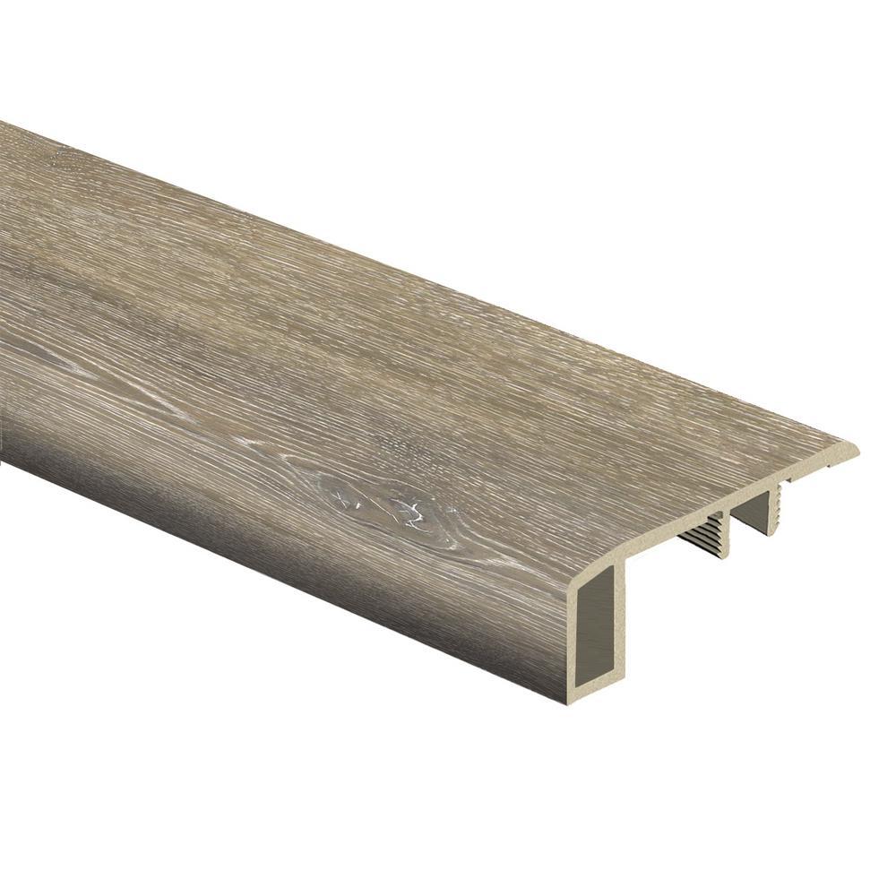 Walton Oak 7/16 in. Thick x 1-3/4 in. Wide x 72 in. Length Vinyl Carpet Reducer Molding