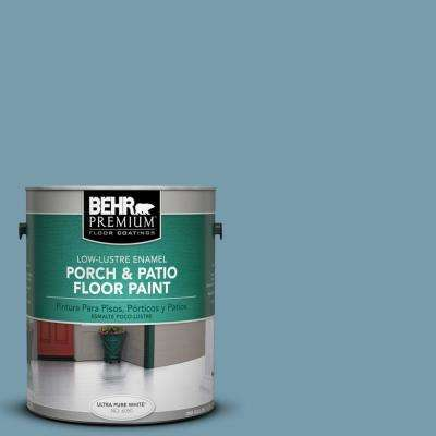 1 gal. #S470-4 Dolphin Blue Low-Lustre Porch and Patio Floor Paint