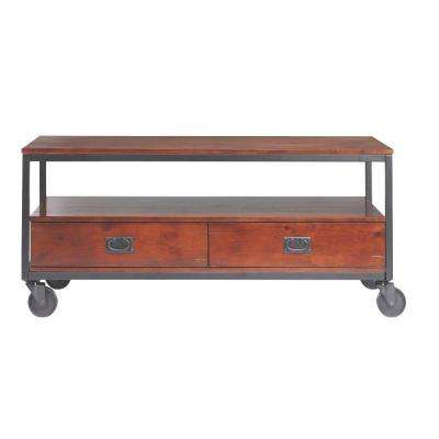 Industrial Mansard Black Coffee Table