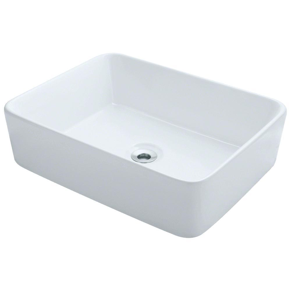 Porcelain Vessel Sink in White