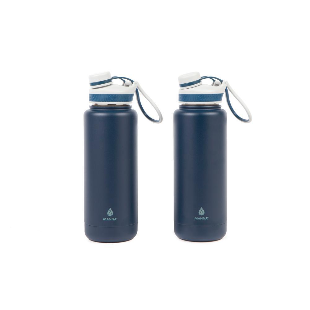 Ranger Pro 40 oz. Navy Stainless Steel Vacuum Bottle (2-Pack)