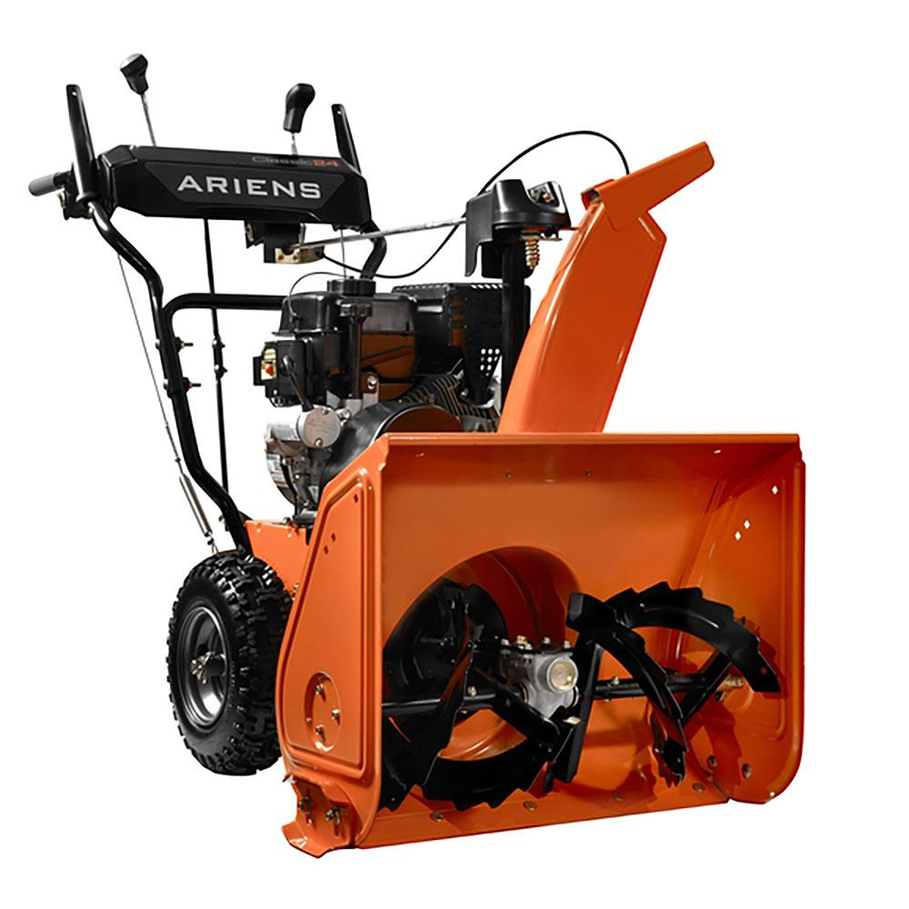 2 stage snow blower ariens classic 24 in 2 stage electric start gas snow 28976