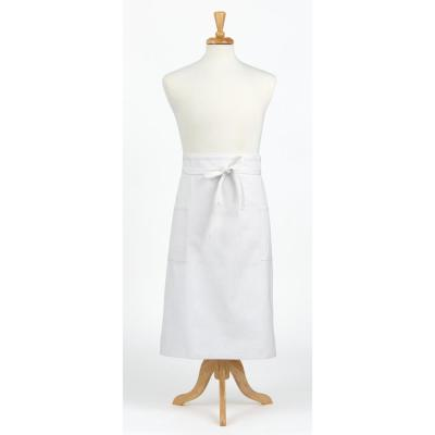 Durable Denim Adult Bistro Apron, White