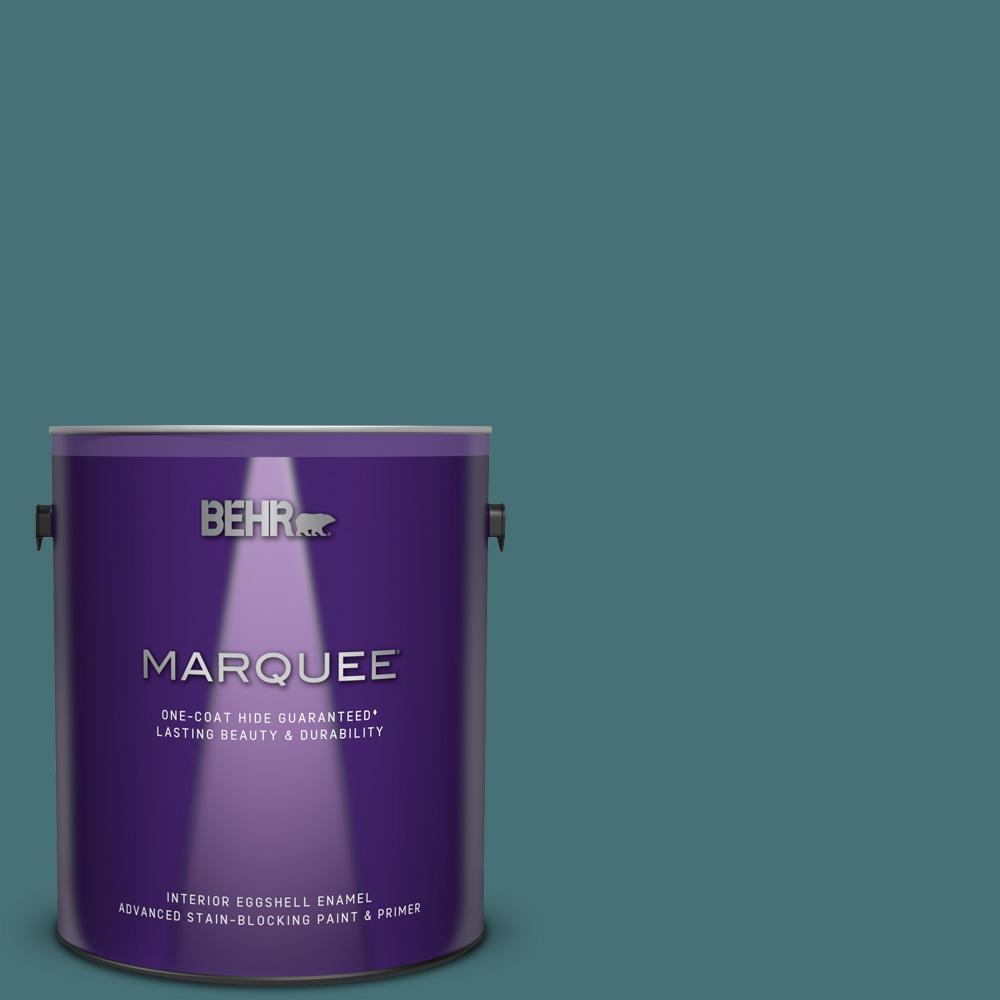 Superb Behr Marquee 1 Gal Ppu13 02 Juniper Berries One Coat Hide Eggshell Enamel Interior Paint And Primer In One Home Interior And Landscaping Ferensignezvosmurscom