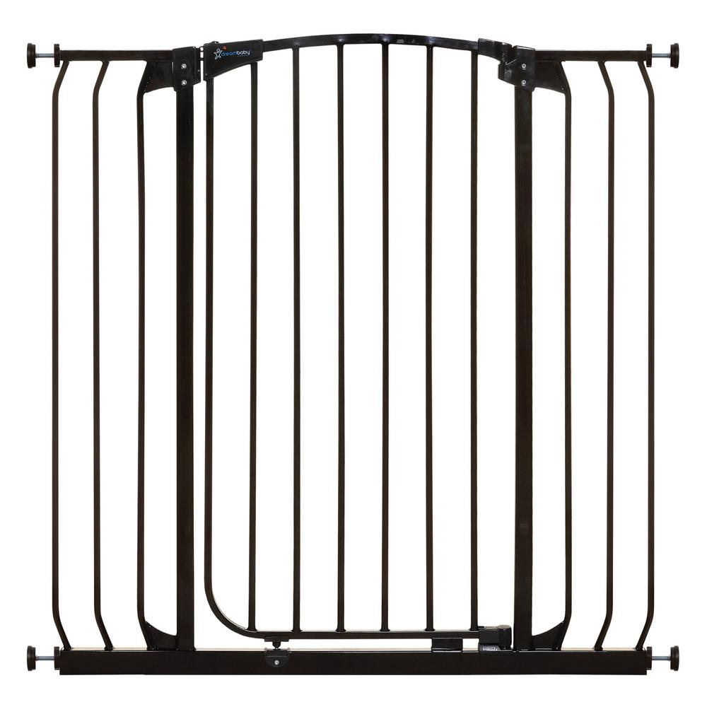 Dream Baby Chelsea 40 in. H. Extra Tall and Wide Auto Close Security Gate in Black