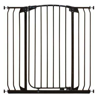 Chelsea 40 in. H. Extra Tall and Extra Wide Auto-Close Security Gate in Black