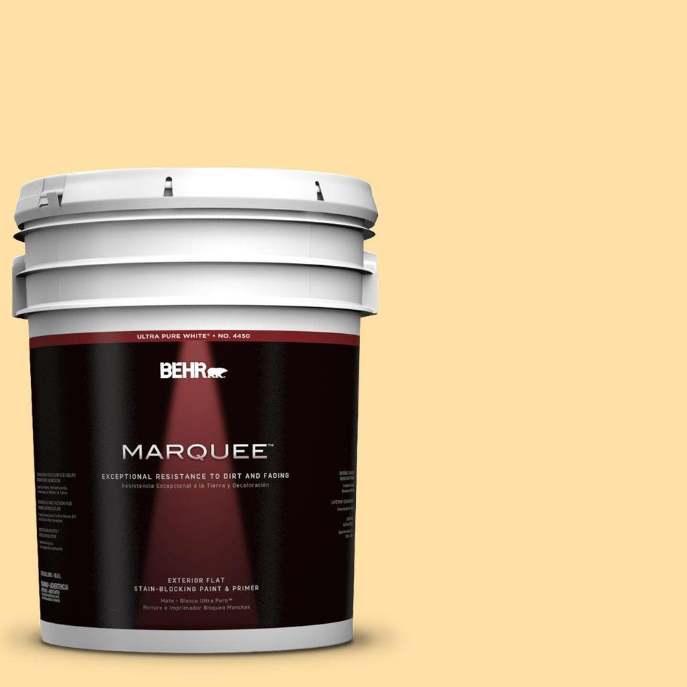 Perfect BEHR MARQUEE 5 Gal. #310A 3 Manila Tint Flat Exterior Paint 445005   The  Home Depot