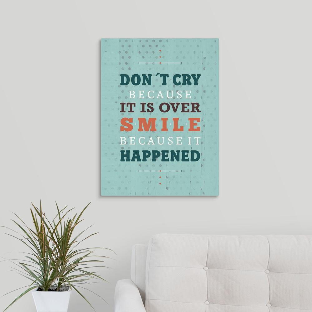 Greatbigcanvas Smile Because It Happened By American Flat Canvas