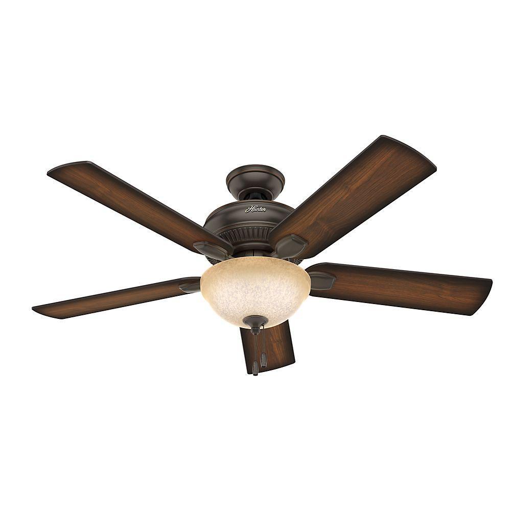 Hunter Bluetooth Ceiling Fan: Hunter Matheston 52 In. Indoor Onyx Bengal Bronze Ceiling