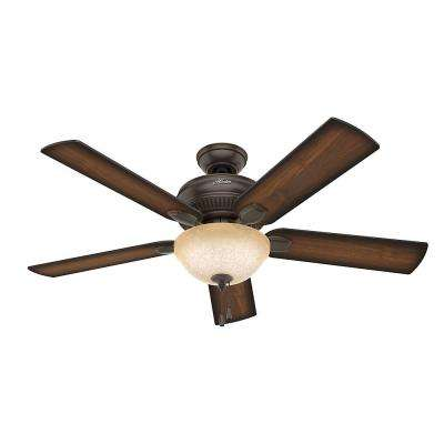Matheston 52 in. Indoor Onyx Bengal Bronze Ceiling Fan with Light Kit