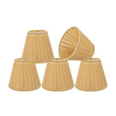 5 in. x 4-1/4 in. Gold Pleated Empire Lamp Shade (5-Pack)