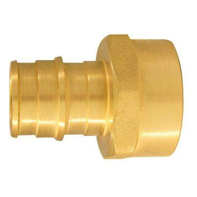 3/4 in. Brass PEX-A Expansion Barb x 3/4 in. FNPT Female Adapter (10-Pack)