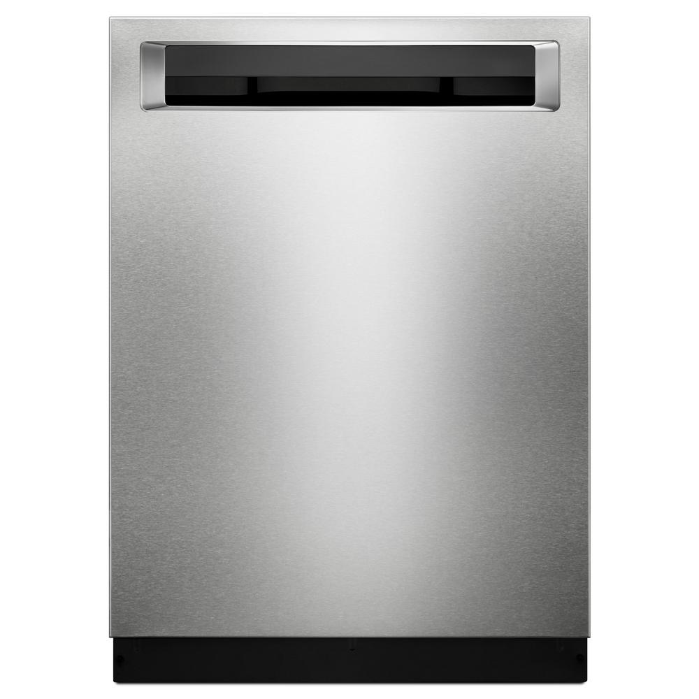 KitchenAid Top Control Built-In Tall Tub Dishwasher in Printshield Stainless with Clean Water Wash System, 44 dBA