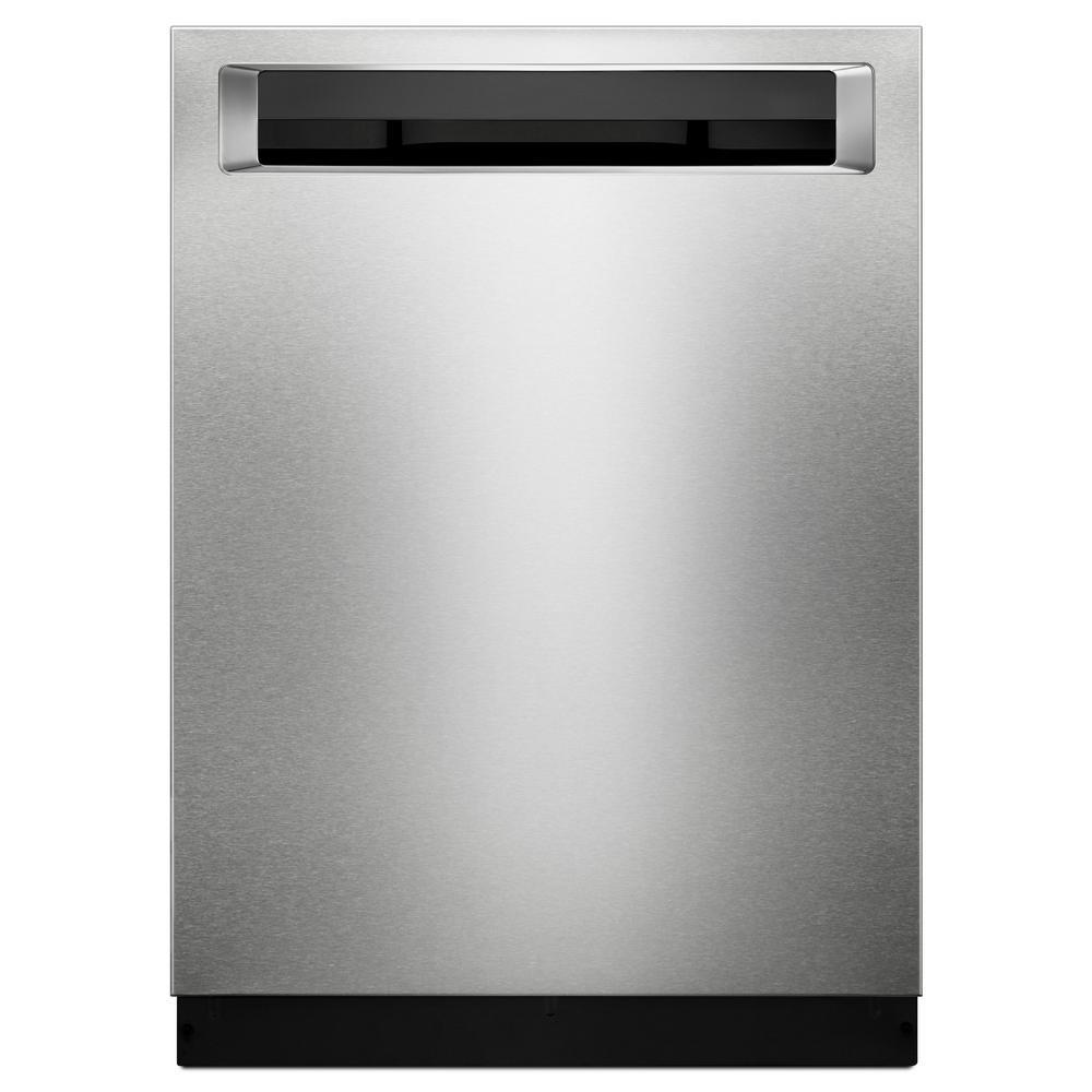 KitchenAid 44 dBA Top Control Built-In Tall Tub Dishwasher